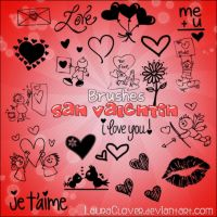 Pack de brushes San Valentin by LauraClover