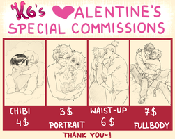 Valentine Special Commissions by KGX347