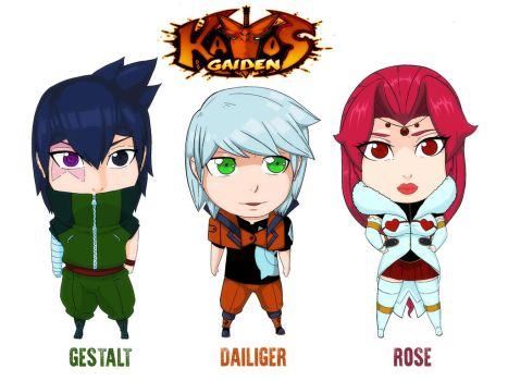 Chibi heroes by strifehell