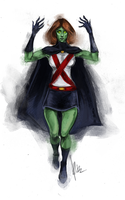 Miss Martian sketch by radacs