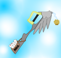 Special Delivery (Derpy key blade) by aniamalman