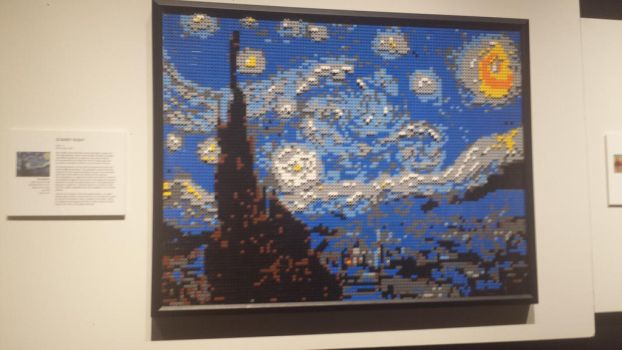 Lego Starry Night by Nateumstead