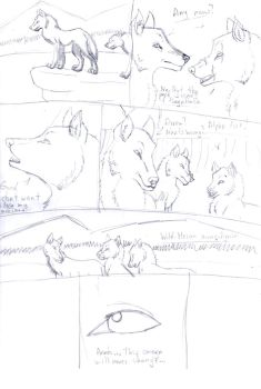 Forgotten Story Page 1 Sketch by Animals369