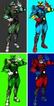 Captain falcon comic print four panel pop art by TheGreatDevin