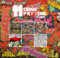 Comic Patterns + Texturas by iSmileLikeMe