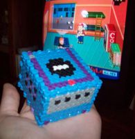 Beaded 3-D Mini Gamecube by WarholaStJames