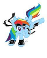 Rainbow Dash The Black Belt by igotastewgoing