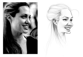 Sketch - Angelina Jolie by rafael-pires