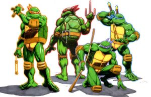 Ninja Turtles by JoseSnakes