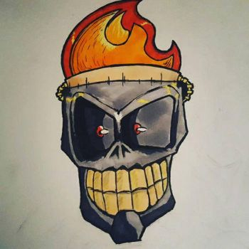 BurningSkull by DaringRansom