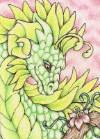 ACEO: Floral Dragon by Agaave