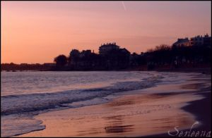 Beach of St Nazaire by Anawielle
