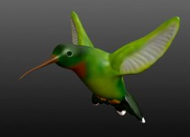 Digital Sculpture - Hummingbird by Rhonda-Young