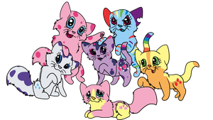 My Little Ponies as Cats by allissajoanne4