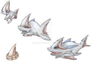 Mega-Shark Pokemon by JoshKH92