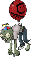 Zombie flying by a ball by hicustomshirt