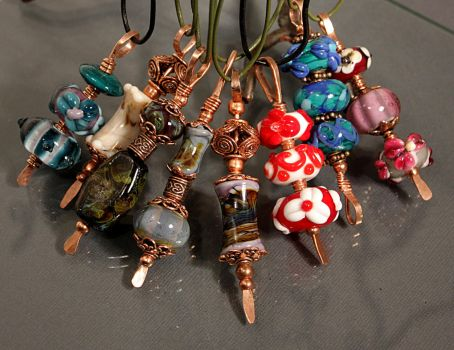 More Eye Candy Necklaces by CopperDancer