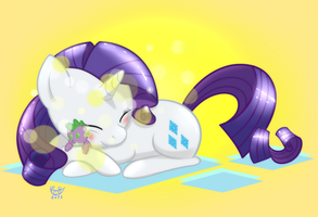 Rarity x plushie Spike by monteruis