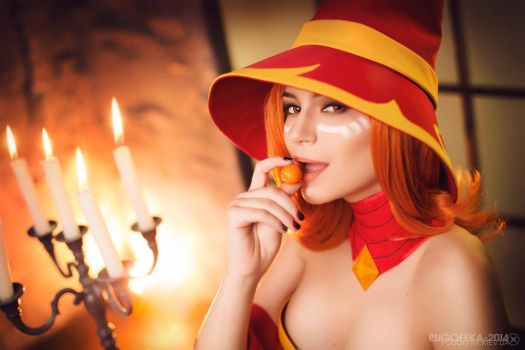 Lina in hat - Dota 2 cosplay by LuckyStrikeCosplay