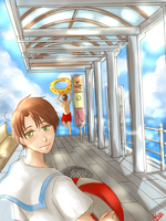 Spamano--Swimming in the SKY by aphin123