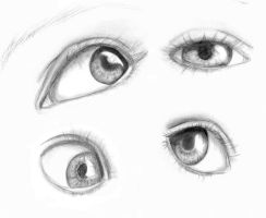 Eye Sketches by electricsorbet