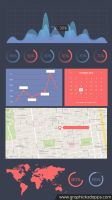 infographic pack V2 free PSD download file by kadayoub