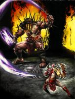 Duel with Hades by Joao-Lima