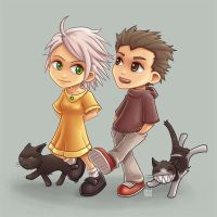 Couple and Cats by Bal-Bafu