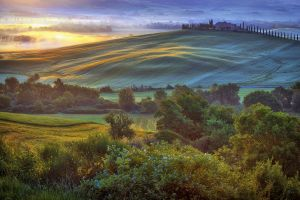 Dawn over the Val d'Orcia 2-5:08 AM by CitizenFresh