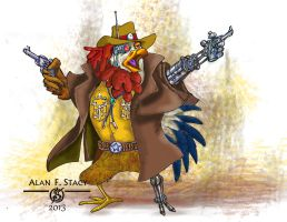 day 14  - Rooster Cogsworth by Beishung