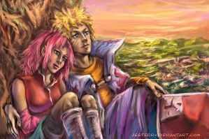 NaruSaku - Dreams came true by jesterry
