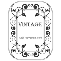 Decorative Vintage Frame Vector by 123freevectors