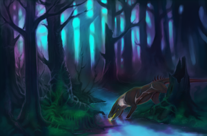 Blue forest by foxdog2