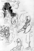 Portal 2 Sketches by KaijahM