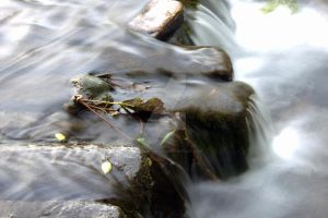 Close Up On Water Falling by ZoeCoombesPhoto