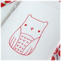 Gocco Owl Cards by Keito-San