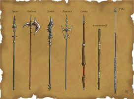 DS: Polearms by willowWISP