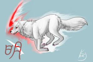 Ming-the white wolf by Kami-Unreal
