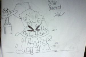 Gumball accepts The Ice Bucket Challenge by MigsGarcia5127
