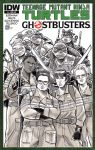 TMNT Ghostbusters Sketch Cover by timshinn73