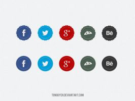 Social Media Badges Icons by t0nguyen