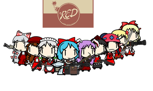 Team fortresss 2 Touhou: Red Team by trynt33