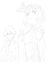 SAO rough outline by hells--gate