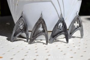 Star Trek Divisions necklaces by AnyShapeNecklaces