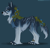 Mushroom canine adoptable #3 - DTA CLOSED by ShadeDreams