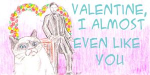 Valentine 4/8 Grumpy Cat and Mr Thornton by theterriblezodin