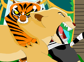 Jungle Cat Fight Begins... by CoolNala