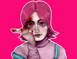 cutie but/and bloody eyes by magictrash