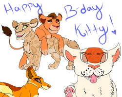 Happy Birthday Kitty! by lolpeaceoutlol