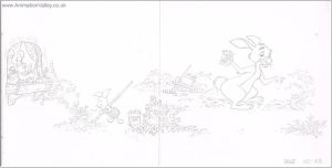Original Hand Drawn Pooh Book Illustration by AnimationValley
